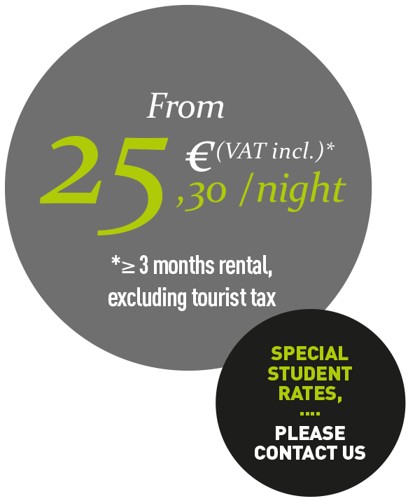 From 25,30€ per night (vat included)